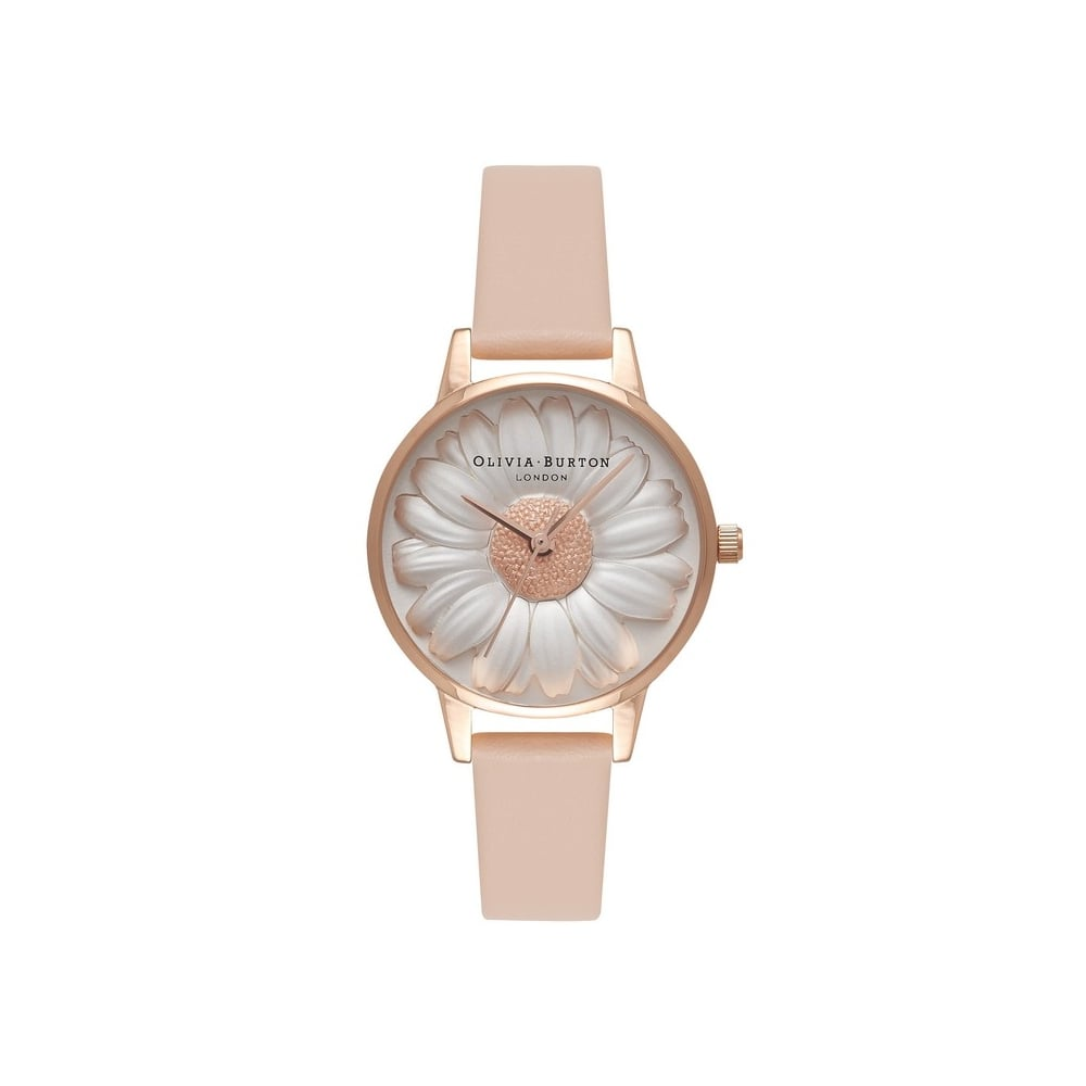 Olivia Burton 3D Daisy Nude Peach Rose Gold Watch Watches from
