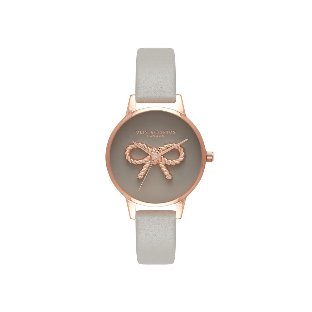 e27d97afd8c Olivia Burton 3D Vintage Bow Grey & Rose Gold Watch - Watches from ...