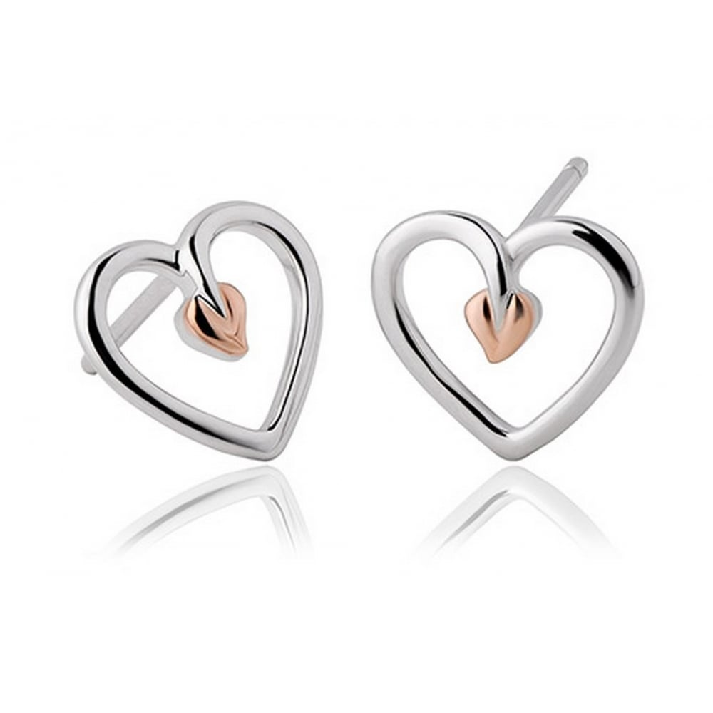 heart francis links gaye rose image diamond stud london of essentials studs jewellers gold