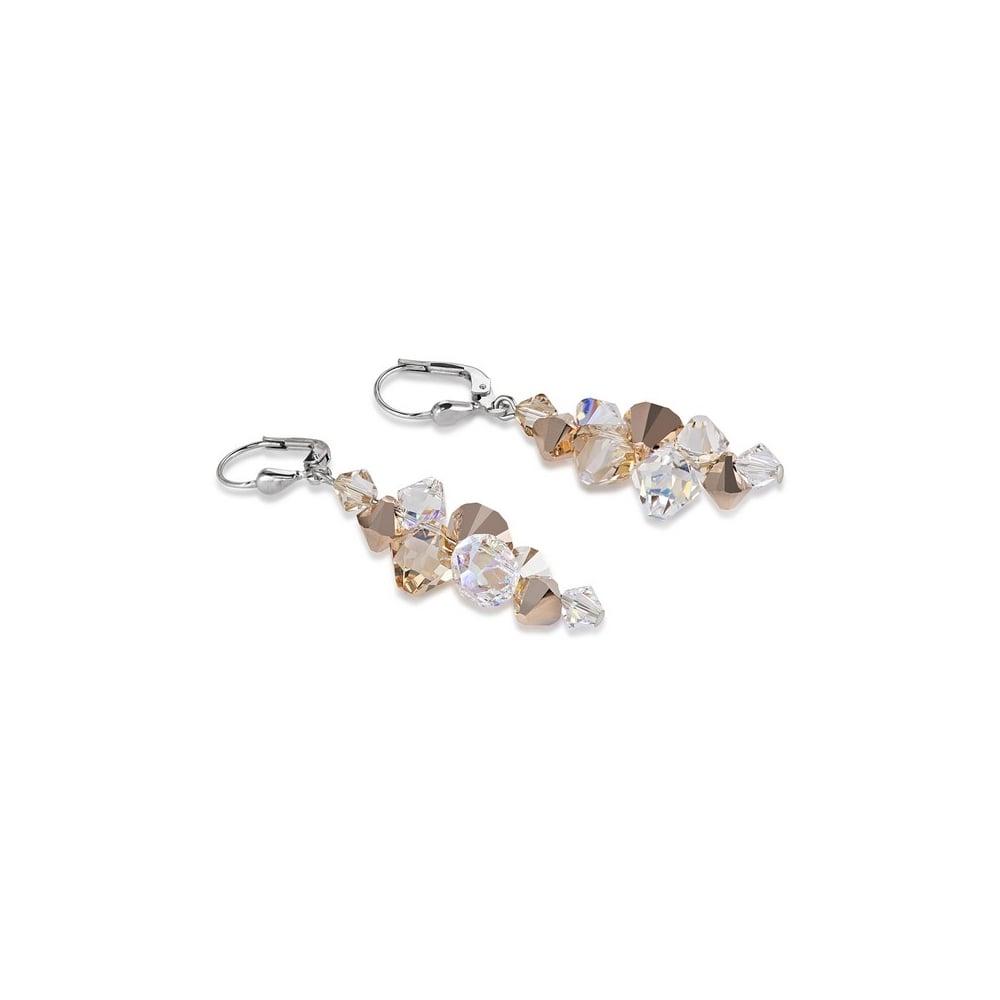 Swarovski Rose Gold Geo Cube Earrings