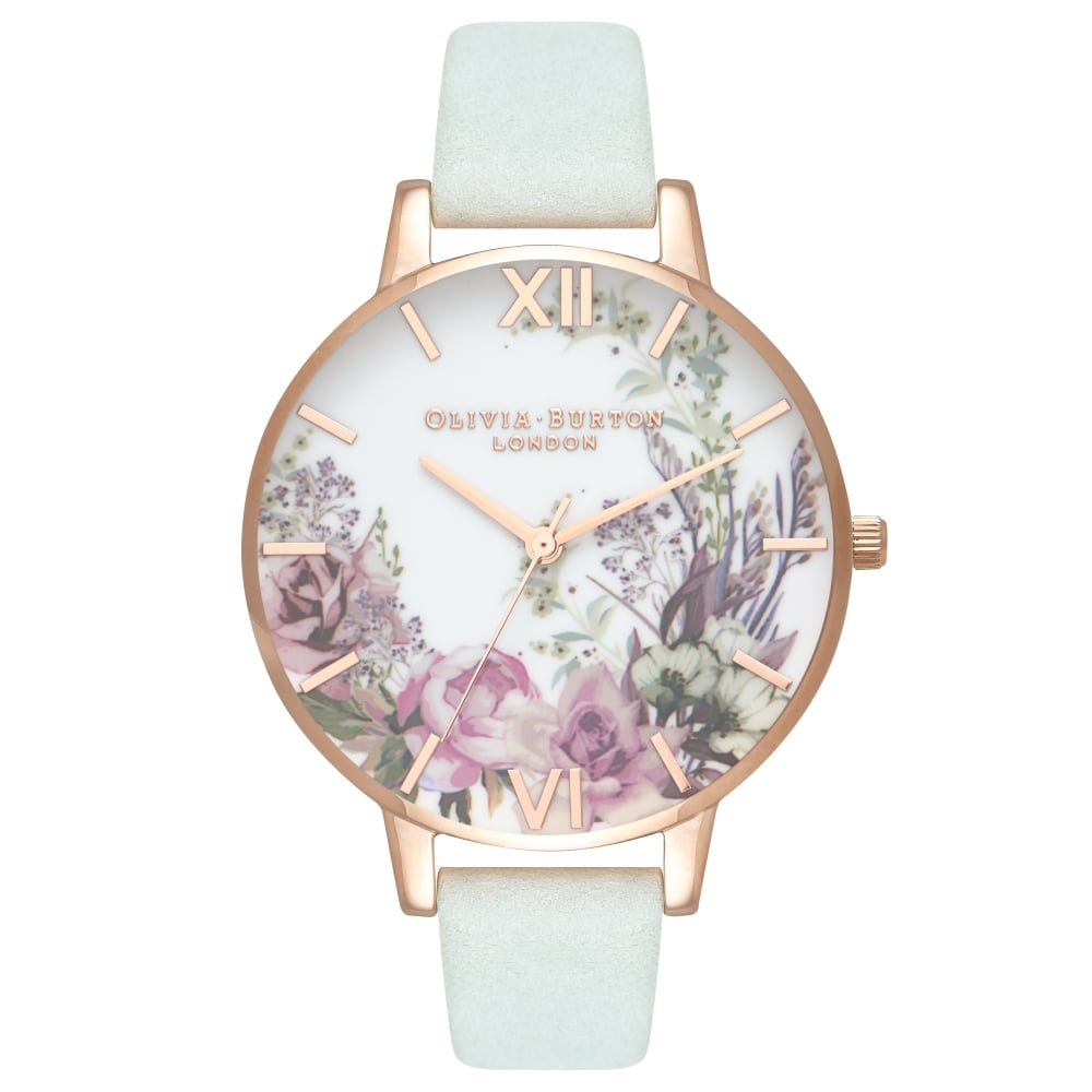 8dcaae5ac87ed Olivia Burton Enchanted Garden Sage   Rose Gold - Watches from ...