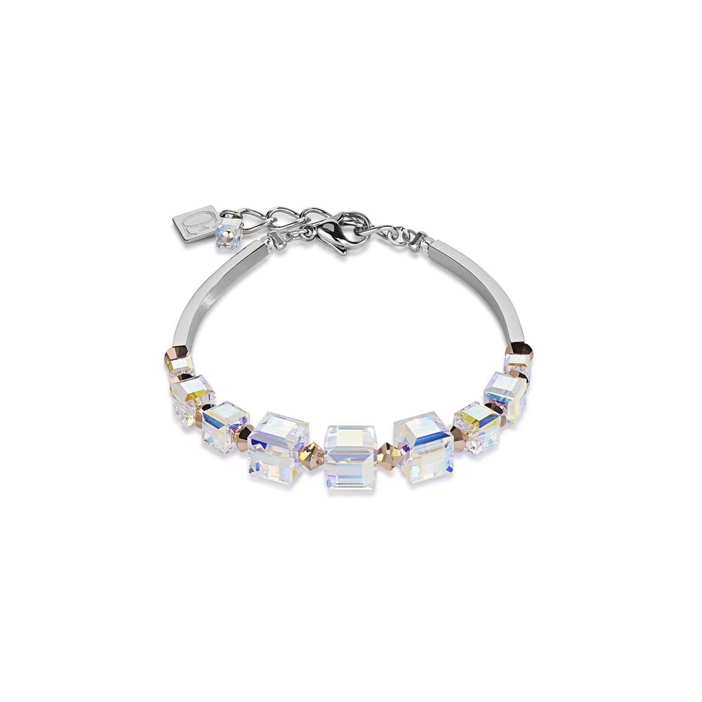 Geo Cube Rose Gold Swarovski Crystal Bracelet