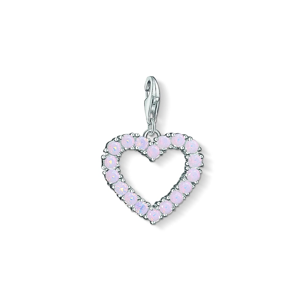 Thomas sabo heart with pink stones charm pendant charms from heart with pink stones charm pendant aloadofball Gallery