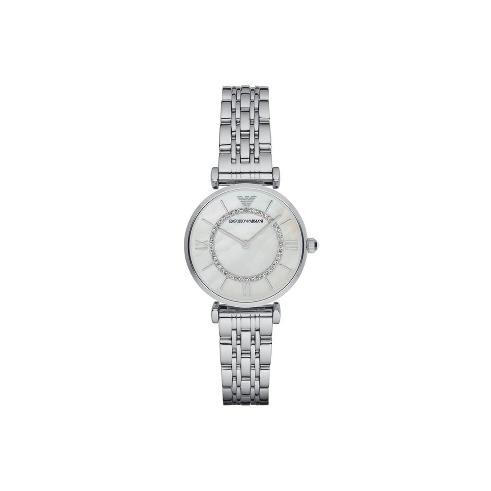 1ff0ed1ba9 Ladies Silver Armani Watch With Mother Of Pearl Dial
