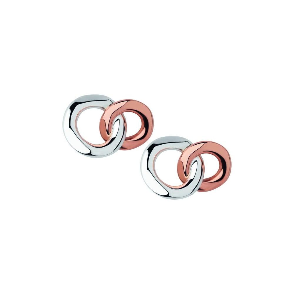 20 Sterling Silver 18ct Rose Gold Stud Earrings