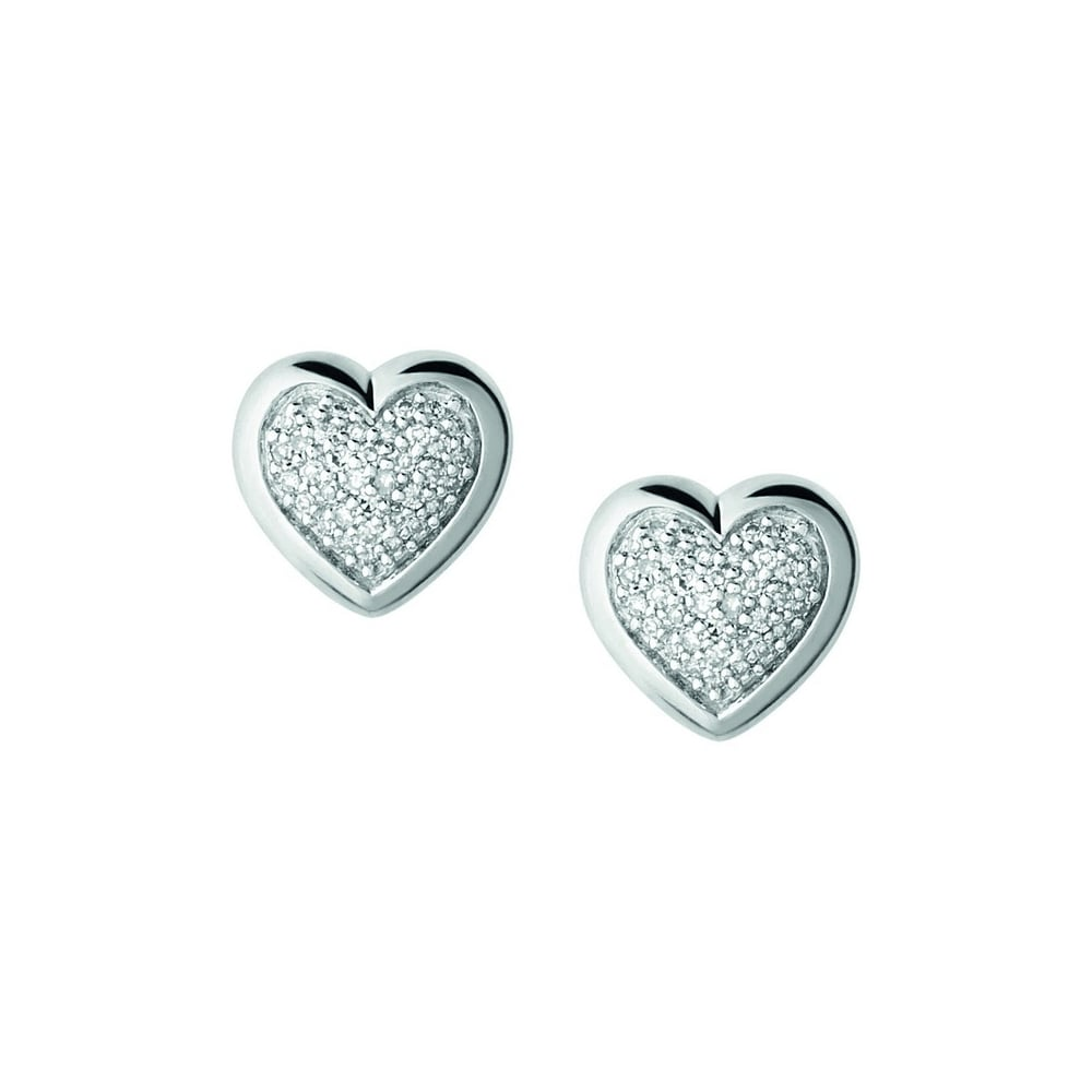 stainless for heart stud plain hypoallergenic miajwl products steel earrings women