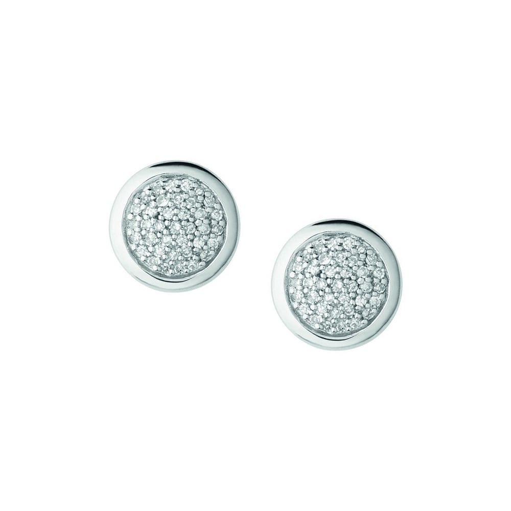 silver plated rhodium colors sterling earrings nadri stud earring products framed round cz