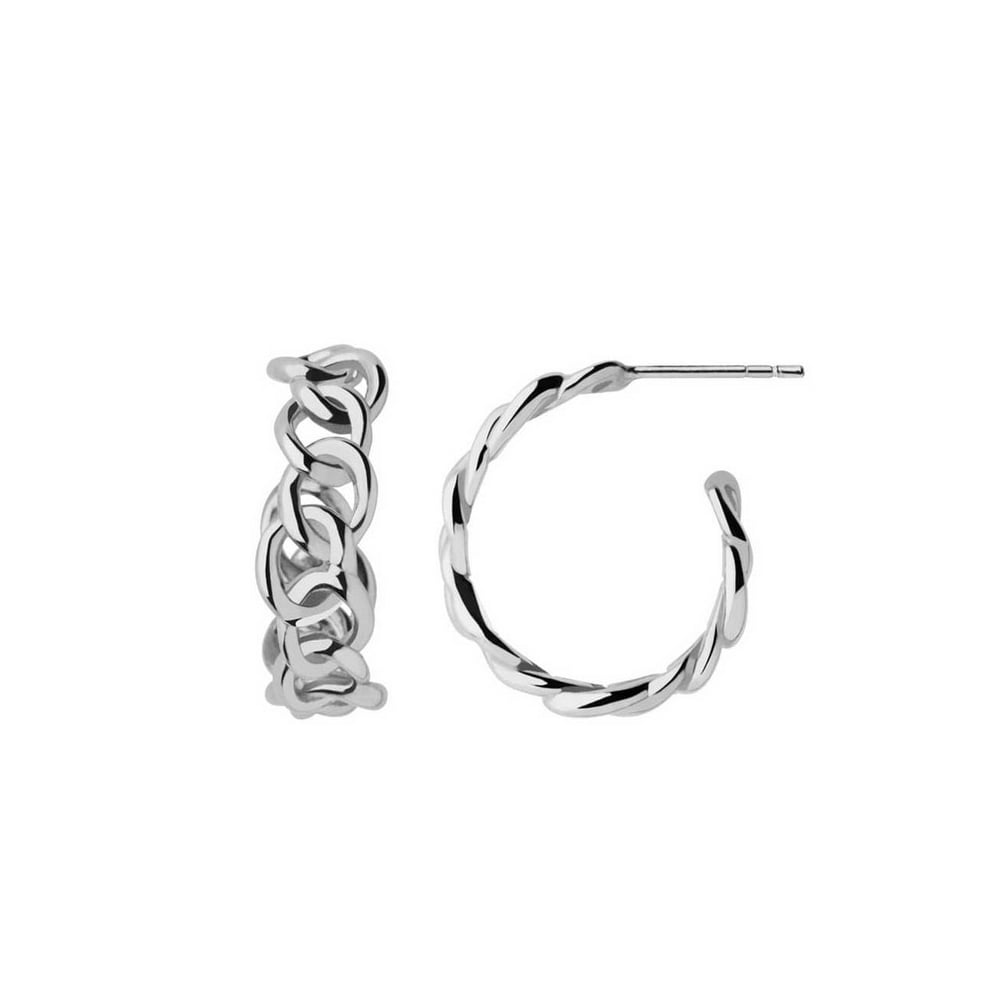 minimalist na ant brushed nomadic hoop s jewellery earrings silver shop sterling