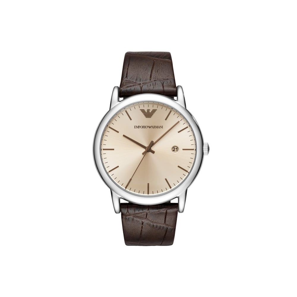 d410b959 Mens Brown Leather Strap Watch