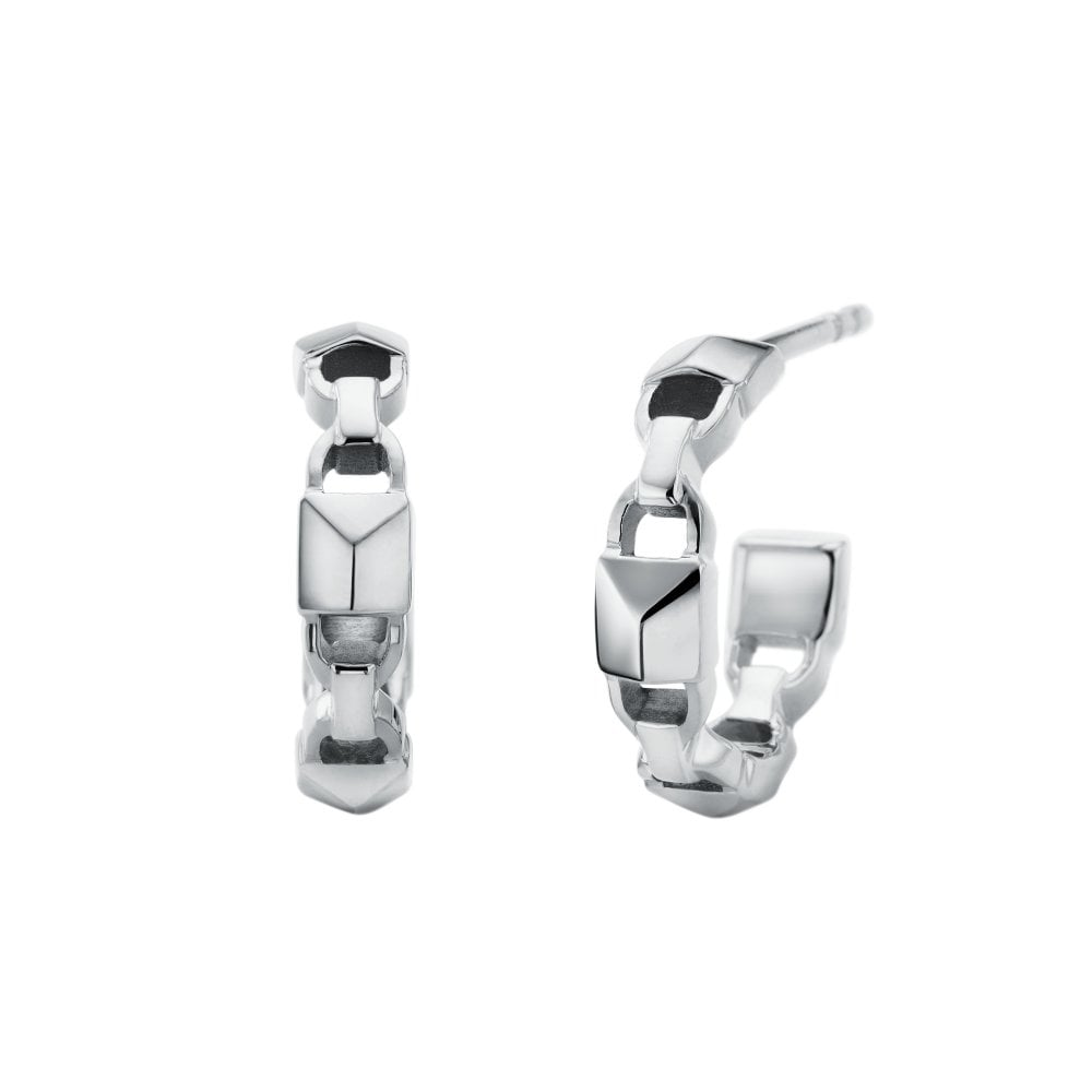 Michael Kors Women 039 S Sterling Silver Hoop Earrings