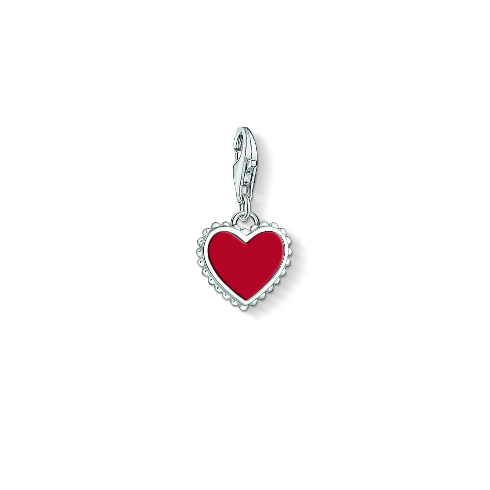 Thomas sabo red heart charm pendant charms from bradburys online uk red heart charm pendant aloadofball Gallery