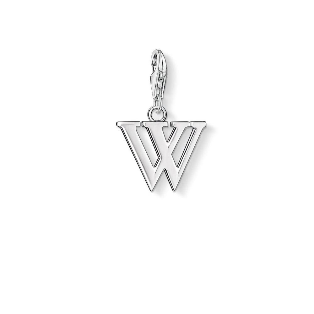 Thomas sabo silver letter w charm pendant charms from bradburys silver letter w charm pendant aloadofball Choice Image