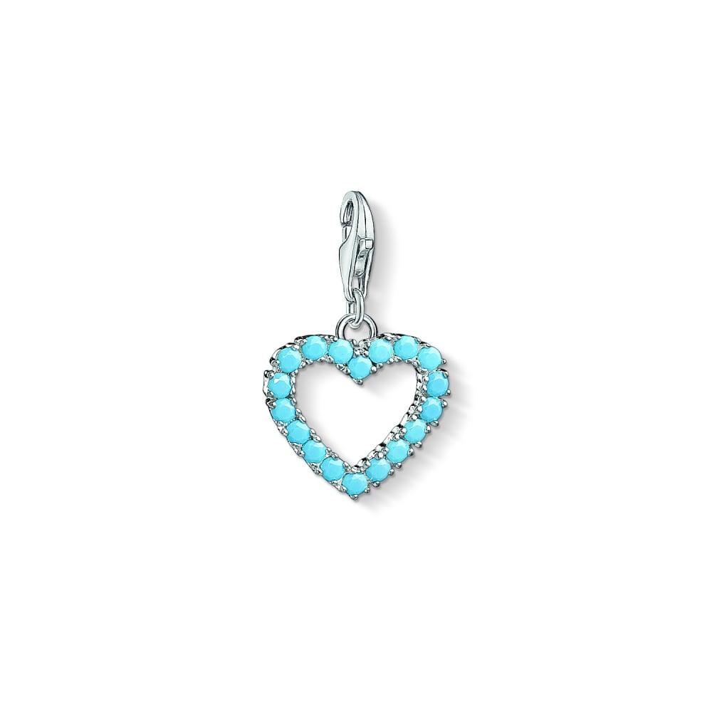 Thomas sabo turqouise heart charm pendant charms from bradburys turqouise heart charm pendant aloadofball Images